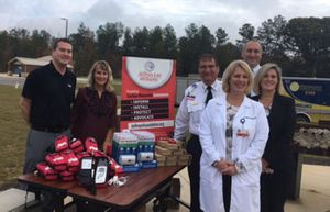 The Jeffrey Lee Williams Foundation Presents Masimo Rad-57® Pulse CO-Oximeters® to Members of the Piedmont Medical Center EMS (York County, South Carolina) (Photo: Business Wire).