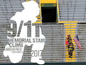 Green Bay Metro Fire Department and Pierce Manufacturing are co-sponsoring the fifth annual 9/11 Memorial Stair Climb at historic Lambeau Field on Saturday, September 16, 2017. All proceeds raised will benefit the National Fallen Firefighters Foundation. Last year, nearly 2,000 residents, firefighters, and local businesses together raised more than $85,000.