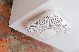 Nest Protect smoke and carbon monoxide alarm.