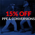 15% off PPE & Firearm Conversions