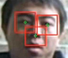 Questionable Observer Detector (QuOD) software recognizes the geometry of human faces.