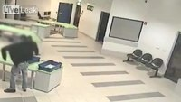 Airport security catches infant mid-fall