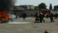 Application Demonstration of FireAde 2000 Extinguishes a Car Fire
