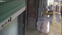 Man hurls child into air after losing fight