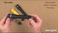 Nightstick TAC-500 Series Polymer & Metal Multi-Function Rechargeable Tactical Flashlights