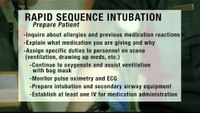 Rapid sequence induction review for EMS