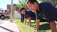 Texas fire department's 22 push up challenge