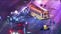 MTA bus, school bus collide in Baltimore