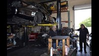 Pinole Police Dept Refurbish 3 - Installing the Engine and Transmission