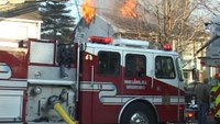 Raw video and radio traffic: NJ house fire with mayday