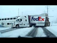 Utah dash cam captures train crashing into FedEx truck