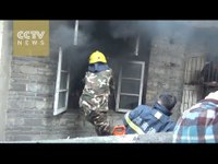 Firefighters cut through window to save girl
