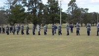 Correctional trainees participate in riot control exercise