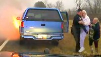 Ohio cop saves woman, elderly mother from burning car