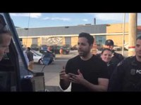 Magician David Blaine performs for cops in Baltimore