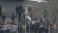 Protesters block roads by Calif. police headquarters