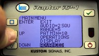Kustom Signals Raptor RP-1 Demonstration
