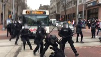 Police move in on protestors in downtown Portland