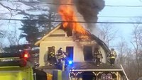 Helmet cam: House fire in NY