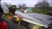 Helmet cam: Roof ops at Texas house fire