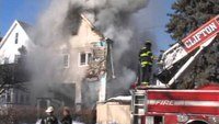 Collapse caught on video at 2-alarm NJ house fire