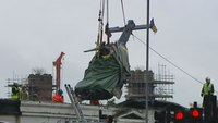 Police helicopter wreckage lifted from pub