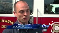 NM firefighter falls through floor at house fire