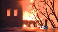 Six-alarm fire at textile mill