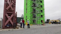 Six-story steel frame building undergoes testing on world's largest outdoor shake table