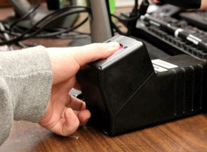 The Marion County Jail's new fingerprint scanner. (Photo Marion County Sheriff's Department)