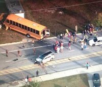 35 students hurt in school bus head-on collision