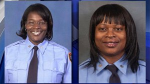 FDNY EMTs Khadijah Hall (left) and Shaun Alexander ran to the aid of NYPD Officer James Li after he was shot and wounded. (Image NYPD)
