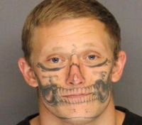 Calif. deputies searching for escaped inmate with skeleton face tattoo