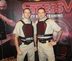 Members of the StressVest team testing out their gear. (PoliceOne Image)