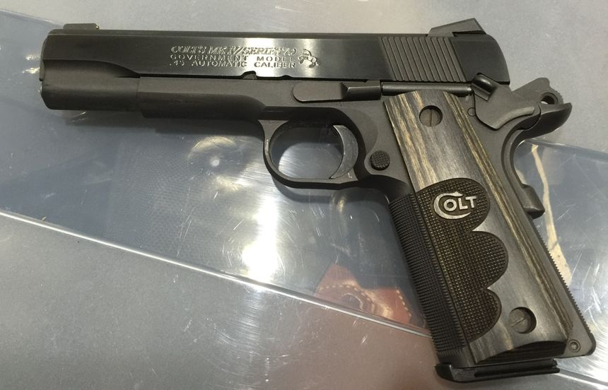 The thumb safety, grip safety, trigger, magazine button, grips and slide lock on this Colt Series 70 1911 can all be replaced to custom fit the gun for a variety of hand sizes. (Photo/Mike Wood)