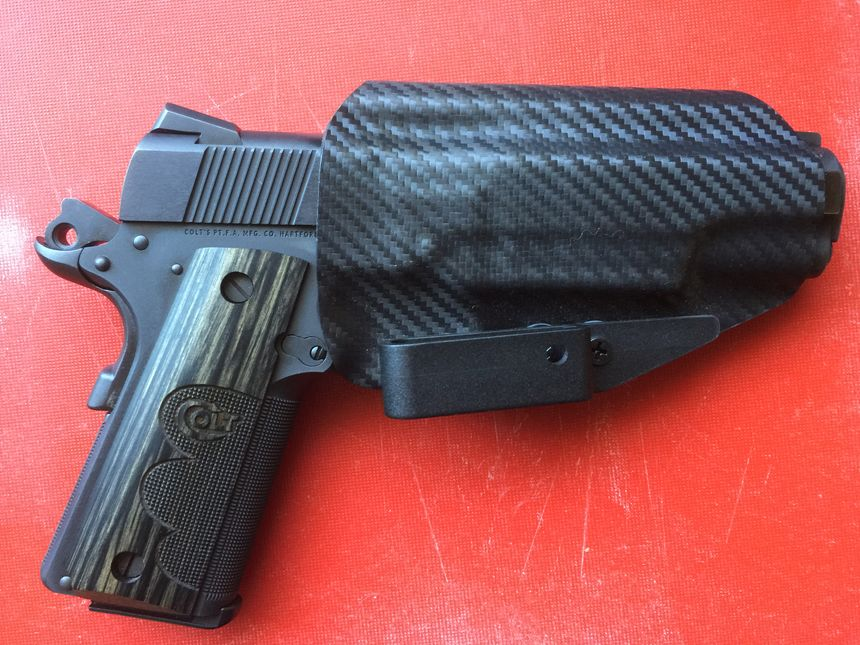 Even though it is a big gun, the 1911 carries flat and makes a good choice for concealment. (Photo/Mike Wood)