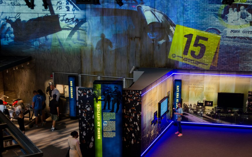 Exhibits at the National Law Enforcement Museum offer visitors the chance to see what it is like to be a bomb tech, a K9 officer, SWAT officer and 911 dispatcher. (Photo/National Law Enforcement Museum)