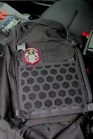 No pack would be complete without hook and loop attachments for morale patches or other attachments.(Photo/Warren Wilson)