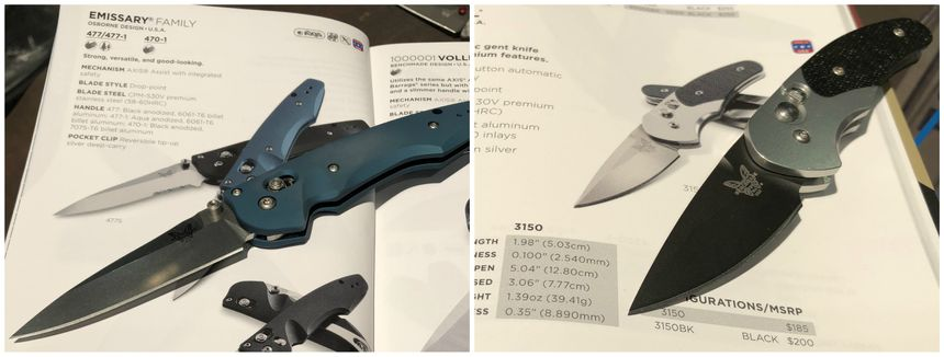 "Left: Benchmade's Emmisary is a 3.5"" assisted-opening knife; Right: You won't know you are carrying the Impel until you need it. (Photo/Ron LaPedis)"