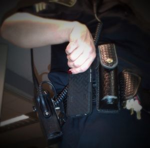 Having a camera within arm's reach means that videos can document what led up to the use of force.(Photo/Linda Robson)
