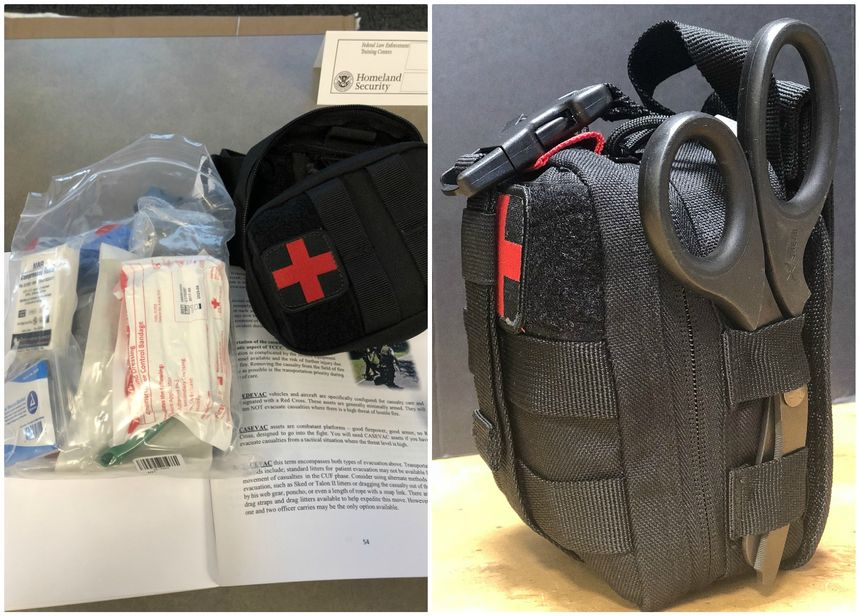All students received a manual, an IFAK and all the gear in the bag, which includes multiple tourniquets, an airway device, an Israeli bandage and combat gauze. The kit as it came was outstanding. I simply added a pair of XShears to make it perfect! (Photos/Sean Curtis)