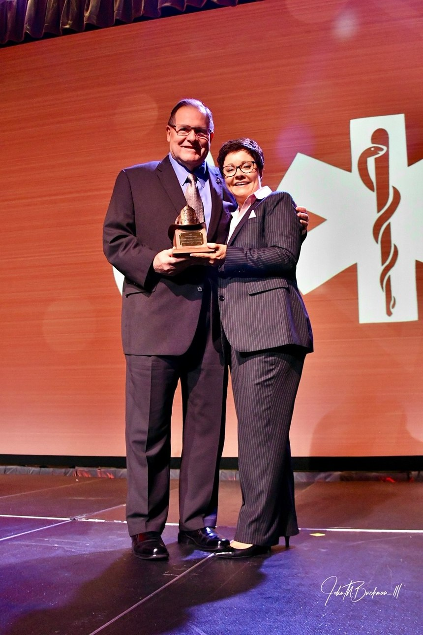 Chief Dennis Compton and Dr. Lori Moore-Merrell were honored with IAFC President's Awards. (Photo/John M. Buckman III)