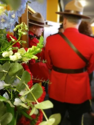 Members of the Royal Canadian Mounted Police at the memorial service forPierce County Sheriff's Deputy Daniel McCartney. (Photo/Linda Robson)