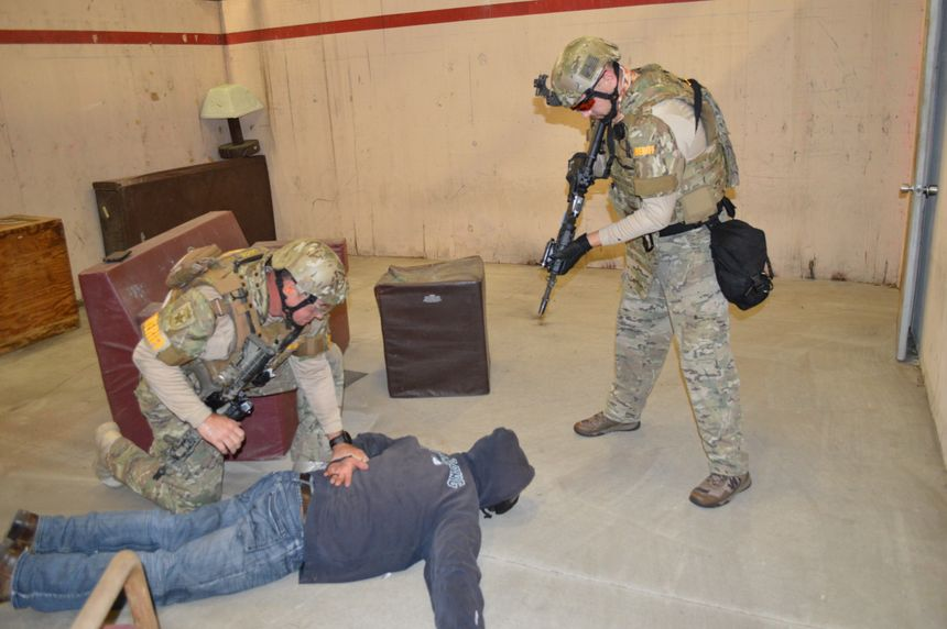 Role players can make or break your training scenarios. You may not want someone with extensive tactical training, as they may prematurely react to your room clearing. (Photo/Will Christensen)