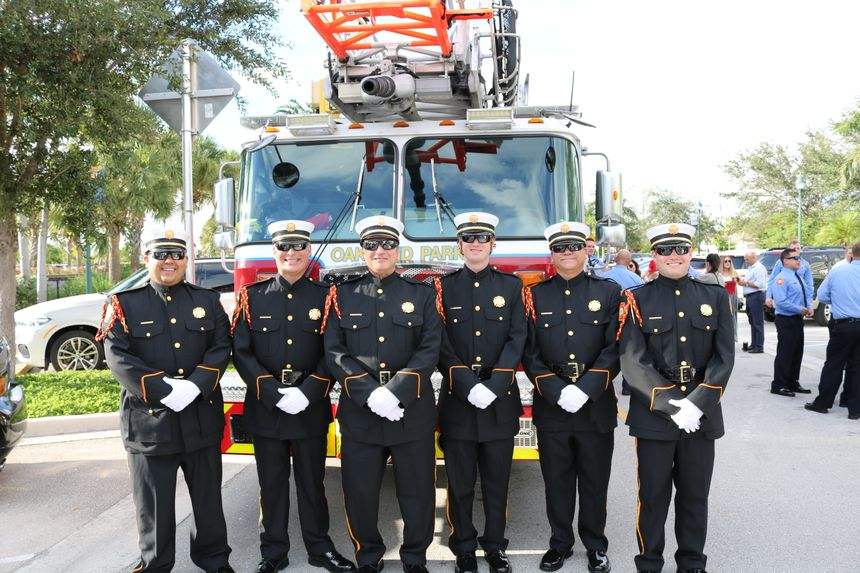 City of Oakland Park, FL, Fire Rescue, winners of the 2019 Best Dressed Public Safety Award ® for First Resonders, Small Department