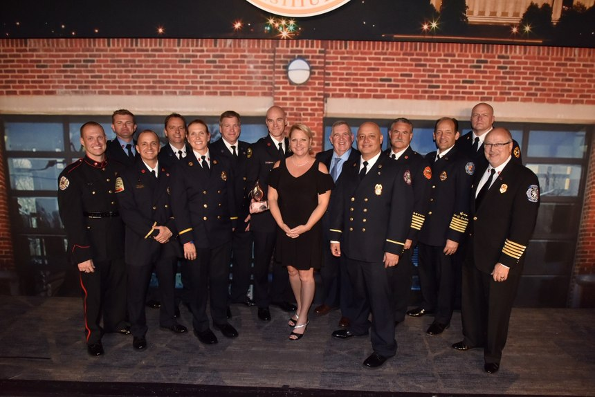 The CFSI/NFFF Senator Paul S. Sarbanes Fire Service Leadership Award was shared by the Florida Firefighters Safety & Health Collaborative and the Denver Fire Department. (Photo/John M. Buckman III)