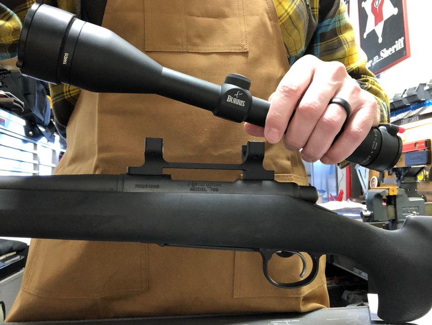 After making sure the Remington 700 was safe I removed the optic.