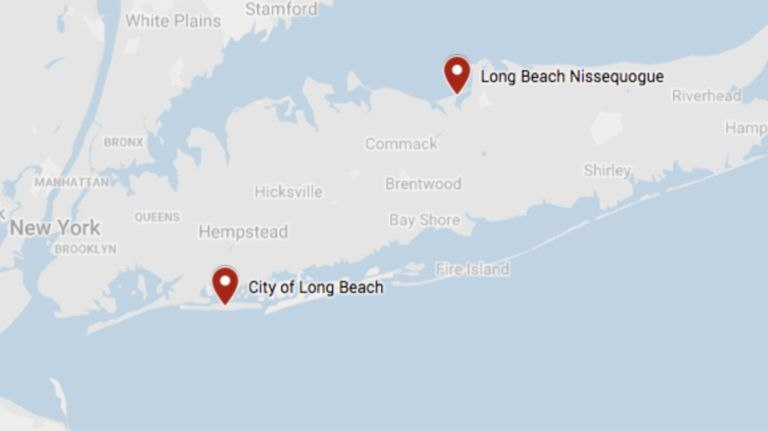 Three Queens residents were stuck in tidal waters after their GPS took them to Long Beach instead of the City of Long Beach. (Photo/Google Maps)