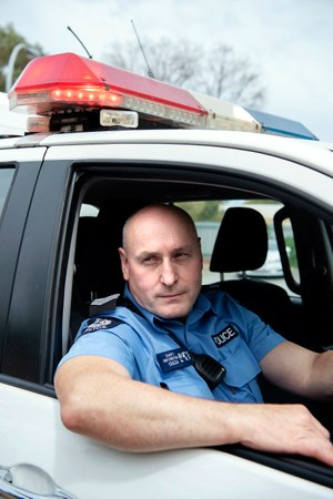 Senior Constable Andy Swift returned to work within a month after the attack. (Photo/WA Police Union)
