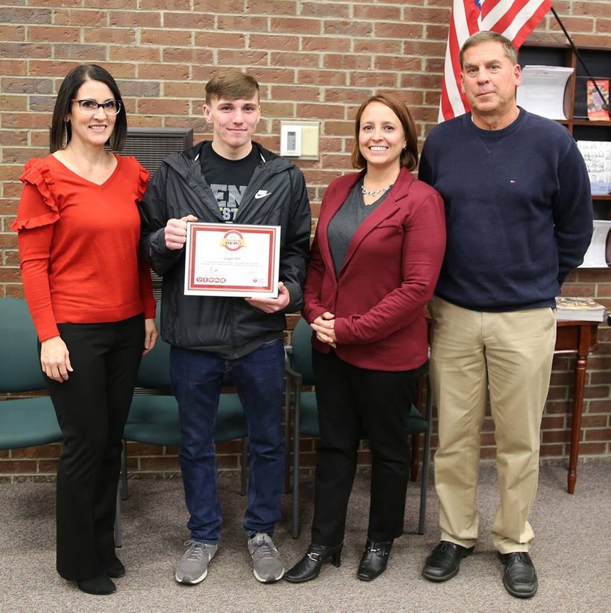 When Logan Hill learned how to do CPR two years ago at Penn High School, he never fathomed he'd be in a position to help save someone's life. (Photo/Penn High School)